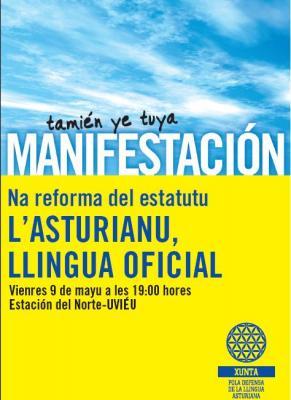 MANIFESTACIÓN POLA OFICIALIDÁ. Día de les Lletres Asturianes